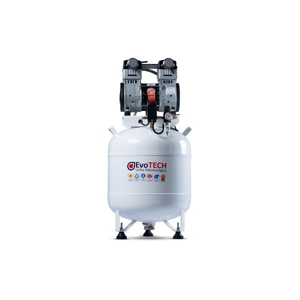 COMPRESSOR ODONTOLÓGICO 65 LTS 2HP - 10 PCM - 290 LTS/MIN 220V-60HZ EVOTECH