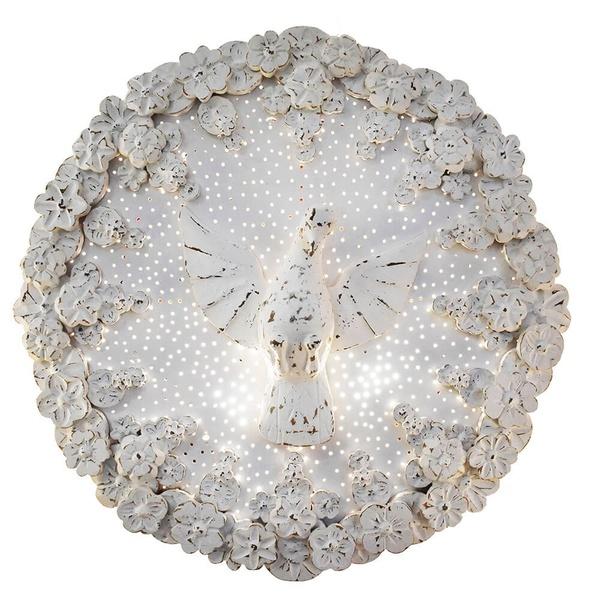 Luminária Divino com Flores Brancas 65 D.