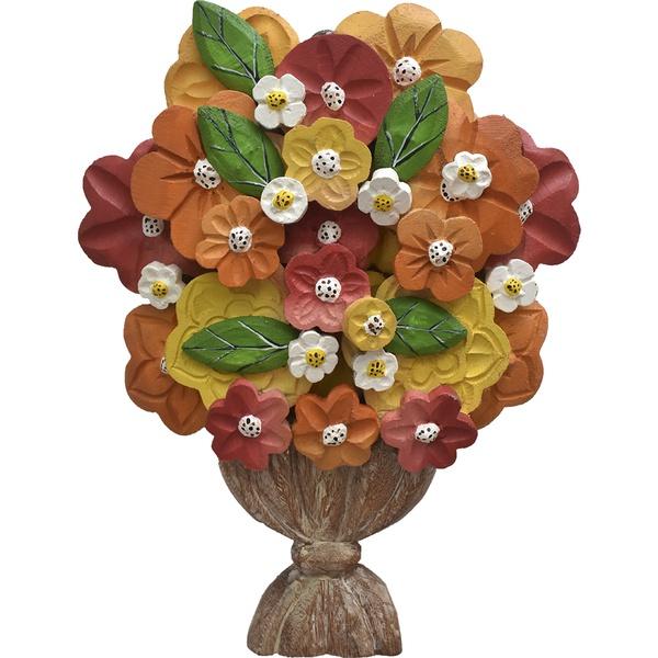 Ânfora Pequena com Flores Coloridas
