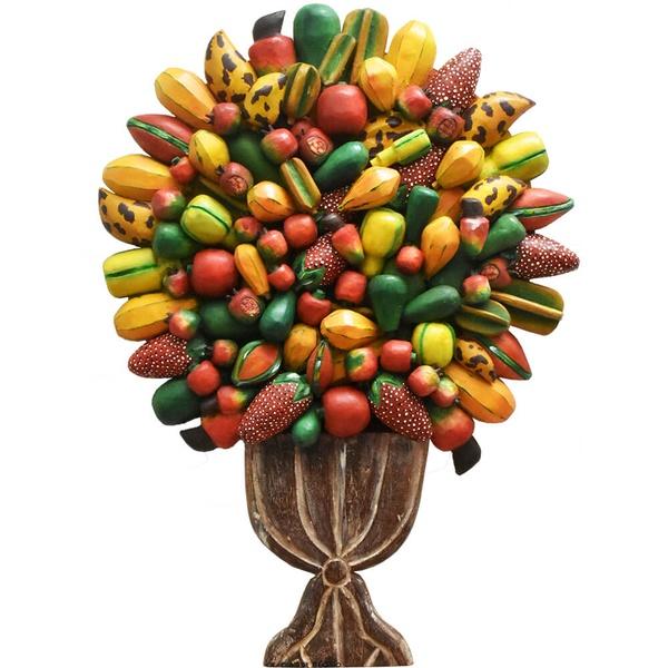 Painel de Ânfora Alta com Frutas Variadas