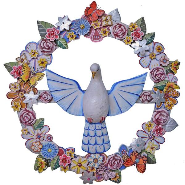 Guirlanda Divino Espírito Santo com Flores e Borboletas