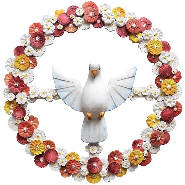 Guirlanda Divino Espírito Santo com Flores Coloridas