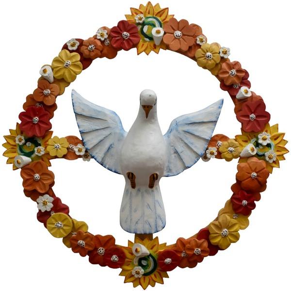Guirlanda Divino Espírito Santo com Girassóis e Flores Diversas - 75 D.