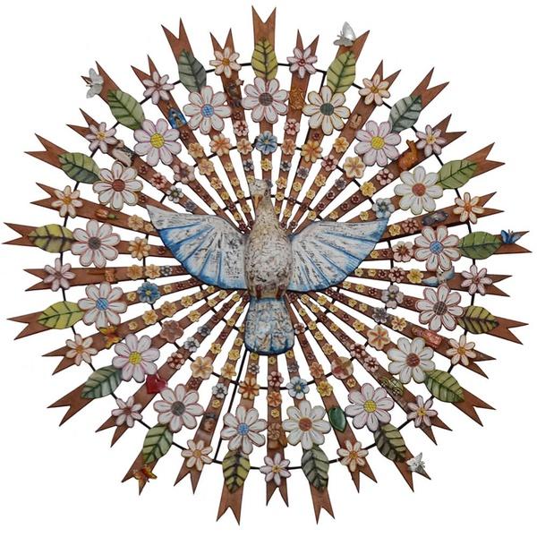 Divino Espírito Santo Resplendor com Recortes de Flores 1,50 m._Toti