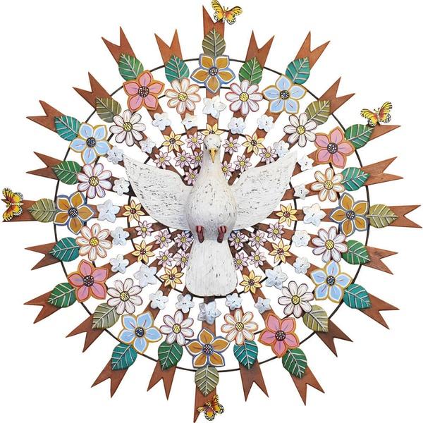 Divino Espírito Santo Resplendor com Recortes de Flores e Folhas 1,20 M._Toti