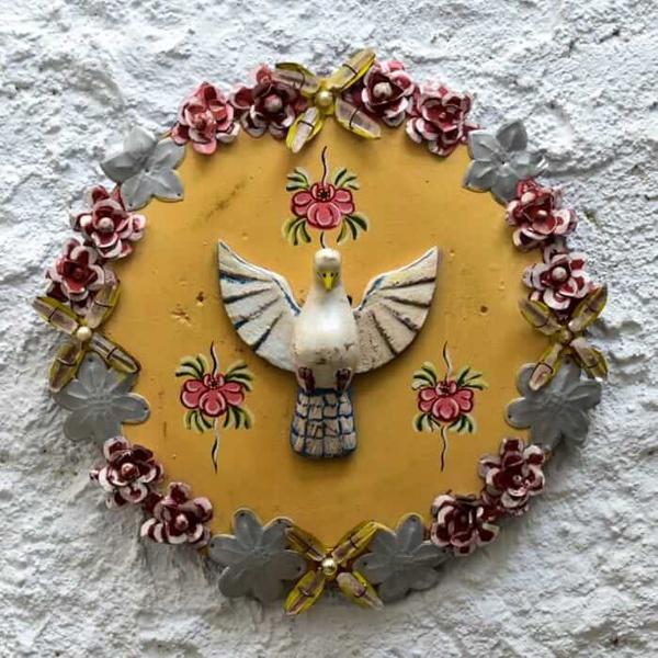Divino Espírito Santo Mandala com Cristais 1_ Coleção Toti