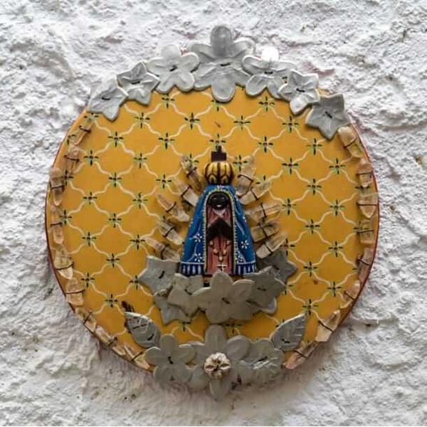 Nossa Senhora Mandala com Cristais 1_ Coleção Toti