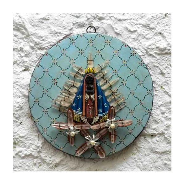Nossa Senhora Mandala com Cristais 4_ Coleção Toti