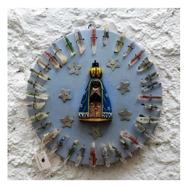 Nossa Senhora Mandala com Cristais 2_ Coleção Toti
