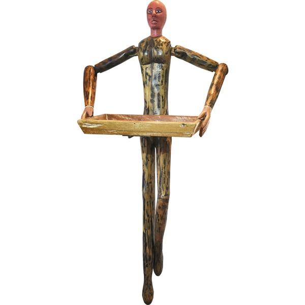 Escultura de parede - Boneco com Bandeja