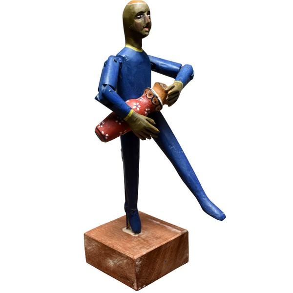 Escultura Boneco Percussionista - Coleção 'Bonecos Instrumentistas'