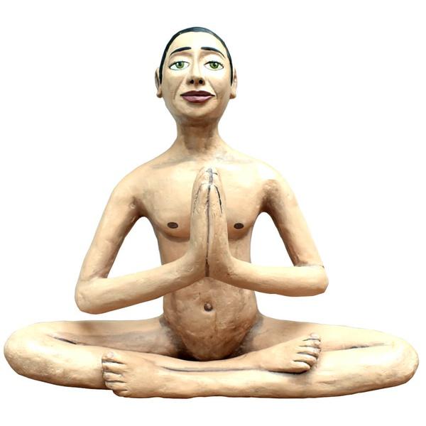Escultura Ioga - Papel Machê