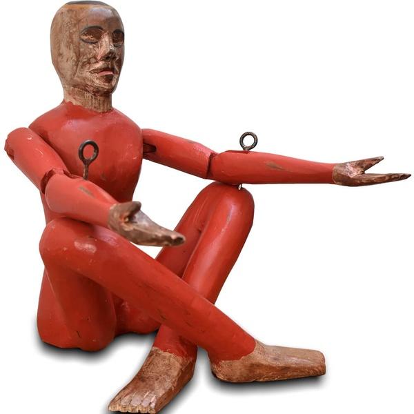 Escultura Ioga Vermelho Pequeno - Masculino
