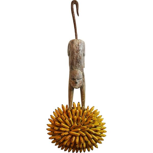 Escultura de Macaco com Cacho de Banana