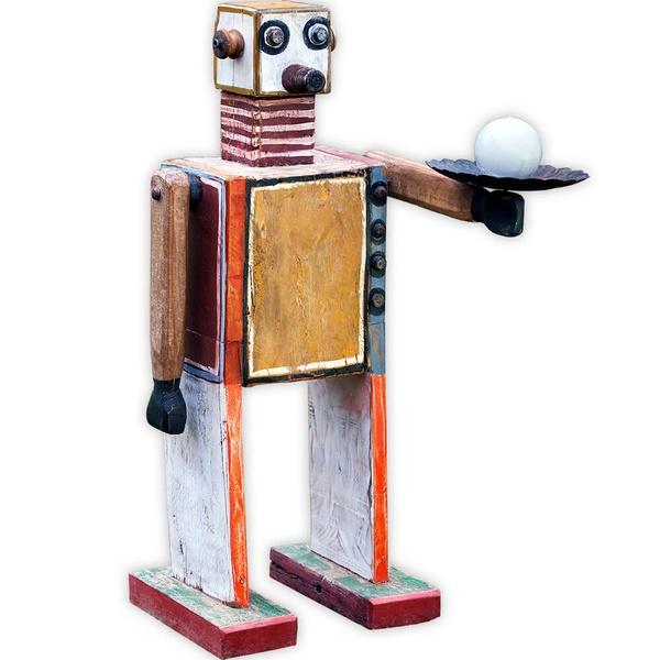 Escultura Média de Robô