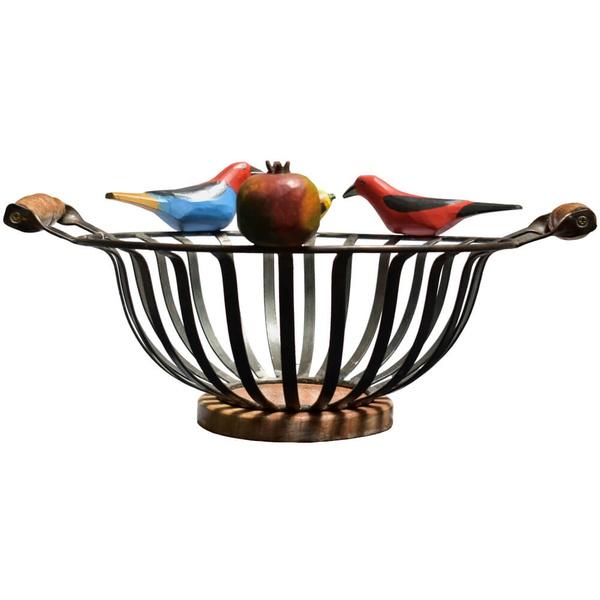 Fruteira de Ferro com Esculturas II - Redonda