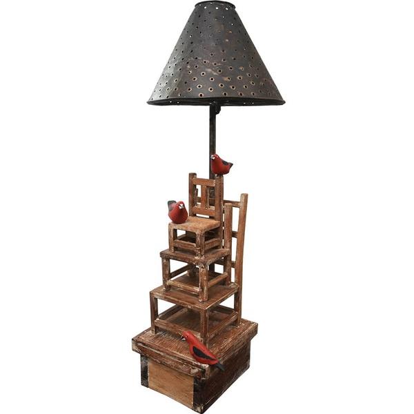 Abajur Cadeiras 3 - Coleção 'Cadeiras Entrelaçadas'