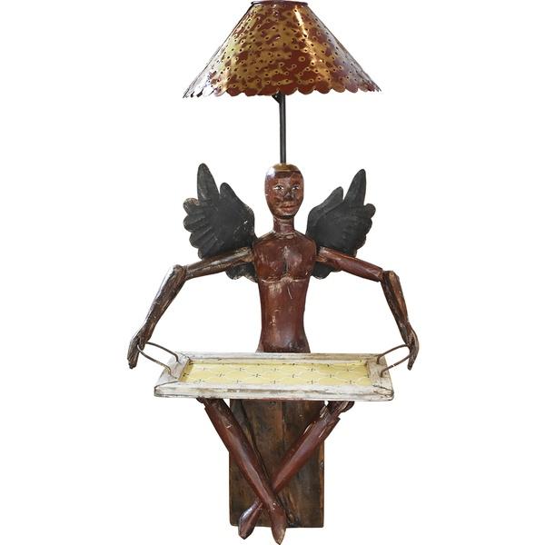 Luminária de Escultura Boneco Anjo com Bandeja 2
