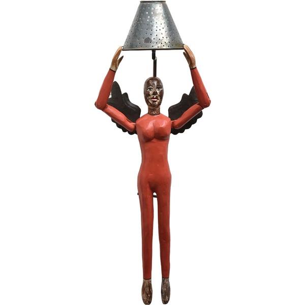 Luminária Escultura Anjo Vermelho