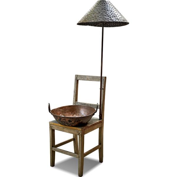 Luminária Cadeira com Gamela