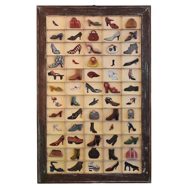Quadro Colmeia de Sapatos