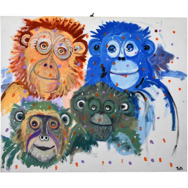 Tela Macacos - Toti