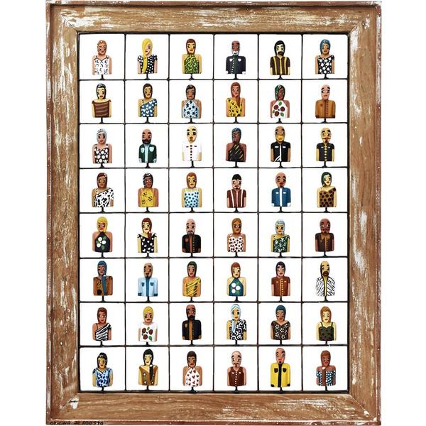 Painel Grade de Bustos Variadas 48 Pçs.