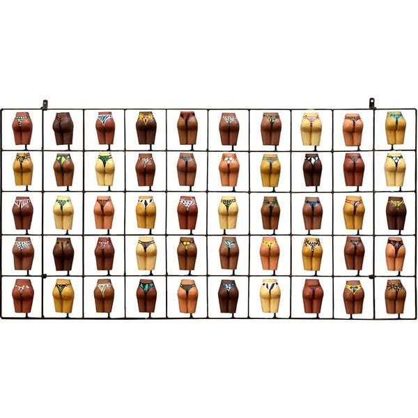 Painel Grade de Bundinhas Variadas 50 pçs