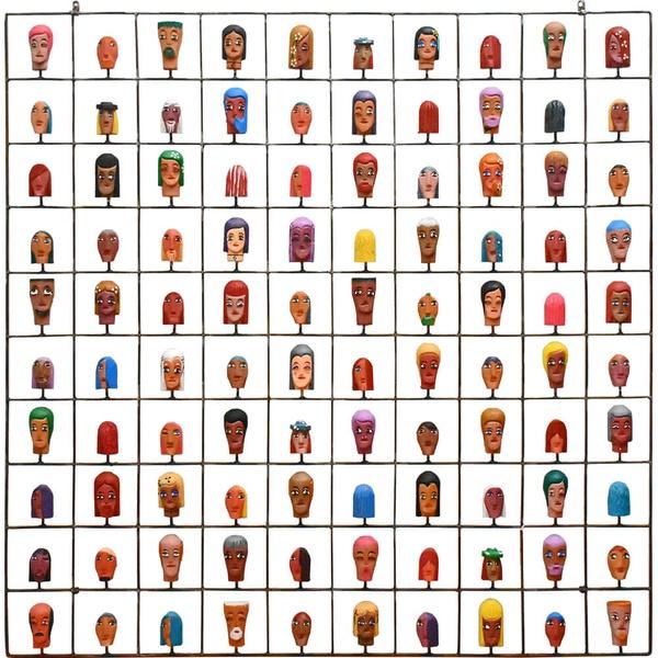 Painel Grade de Carinhas com 100 pçs.