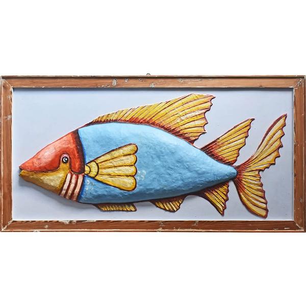 Quadro de Peixe II - Papel Machê