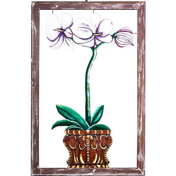 Quadro Vazado Alto de Orquídeas