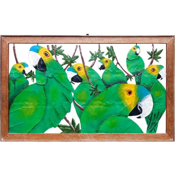 Quadro Vazado Grande de Papagaios 2