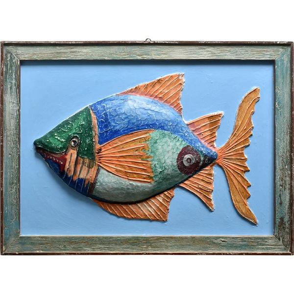 Quadro de Peixe - Papel Machê