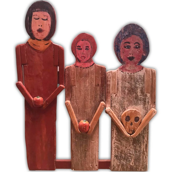 Painel Talha - As Três Mulheres - Toti