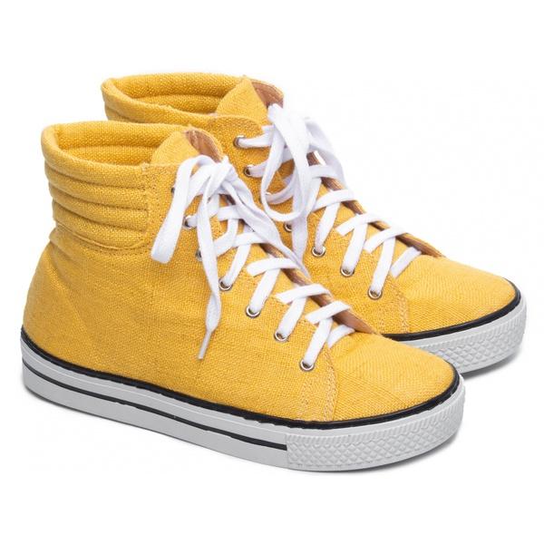Tênis Feminino Jeans Amarelo