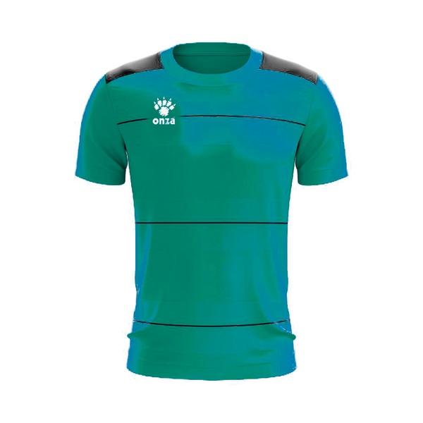 Camisa Jogo - Azul celeste com detalhe de listra no peito