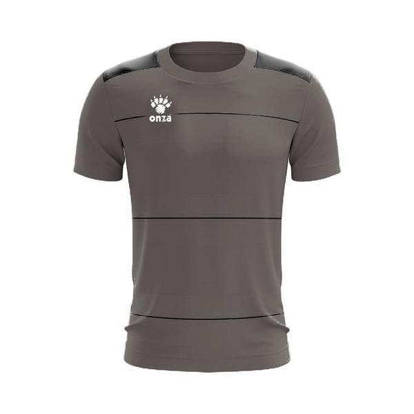 Camisa Jogo - Cinza com detalhe de listra no peito