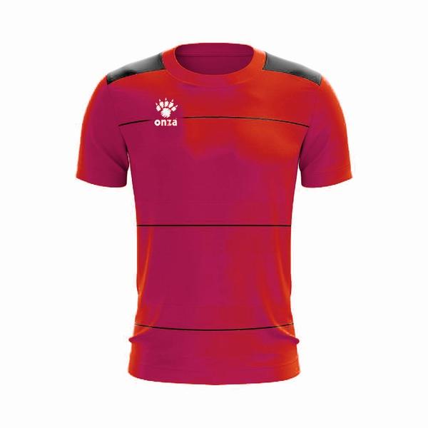 Camisa Jogo - Vinho celeste com detalhe de listra no peito