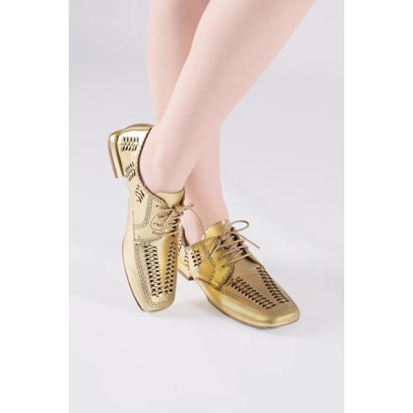 Oxford Rebeca Handmade Ouro Salto 2 cm