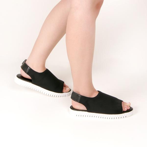Sport Sandals Bella Fecho De Velcro Preto