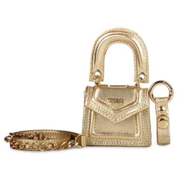 Mini Bag Ponto Celeiro Couro Ouro