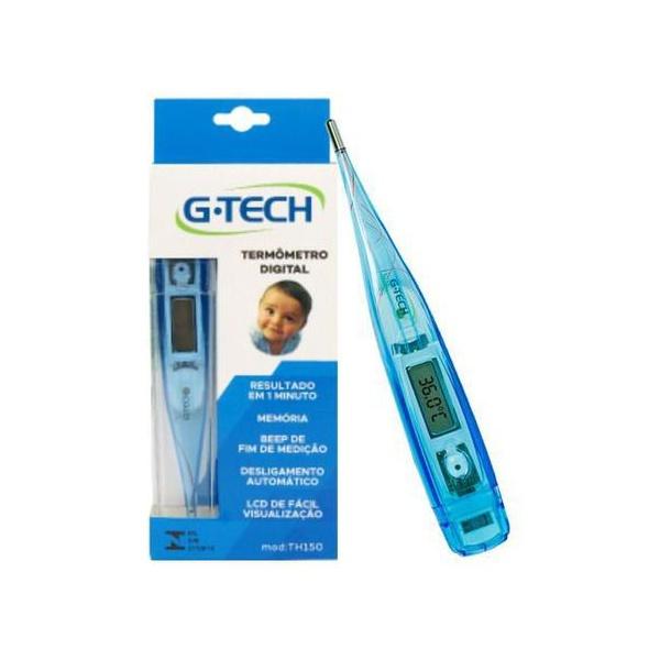 Termômetro Clínico Digital Gtech Azul