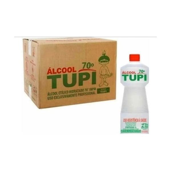 Alcool 70° Líquido 1 Litro Caixa com 12 unidades