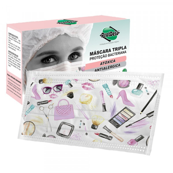 Mascara Descartavel Prot Fashion Beauty Protdesc Caixa c/ 20un.
