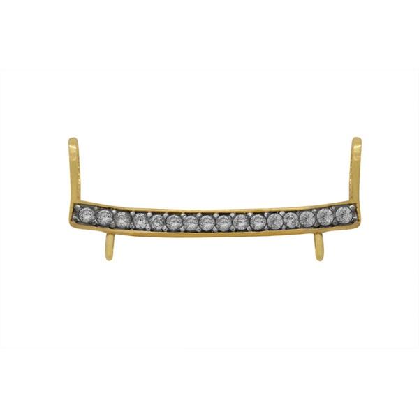 Canga Ouro 18k com Pedras - Separador de Pingentes