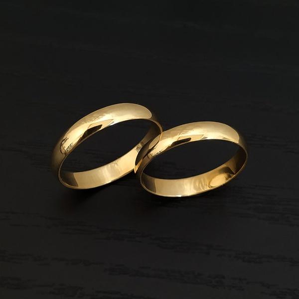 Alianças Ouro 18k Tradicional - Pronta Entrega