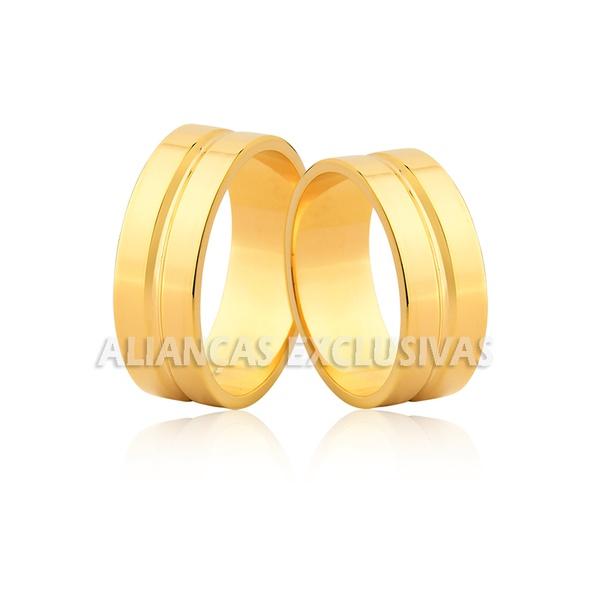 alianças de ouro amarelo grossas para casamento e noivado