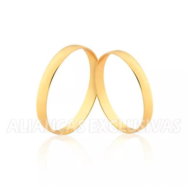 alianças finas feitas em ouro 18k para noivado e casamento