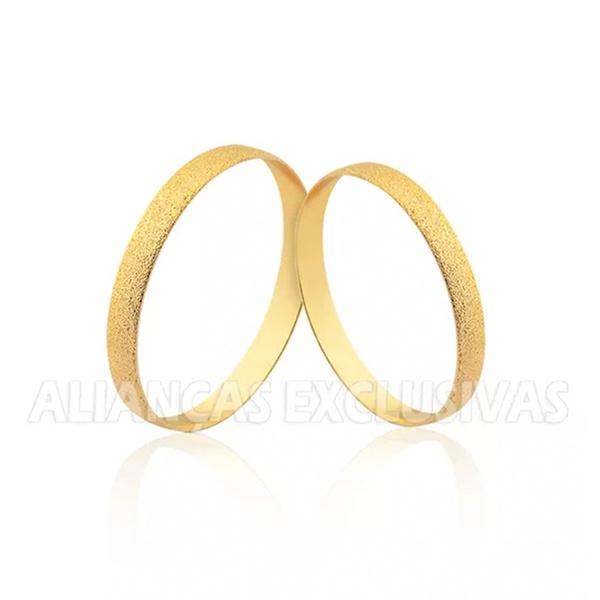 Par de Alianças Finas Diamantadas para Casamento