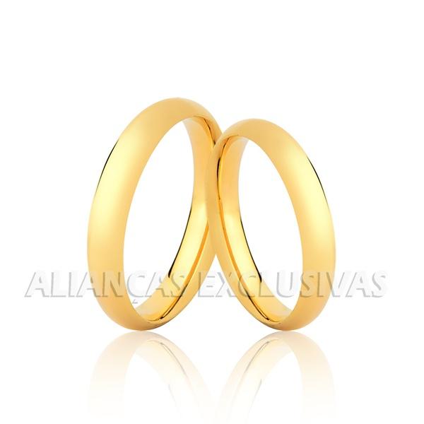 Par de Alianças para casamento tradicionais
